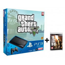 Consola PS3 500GB + GTA 5 + The Last of Us - PS3
