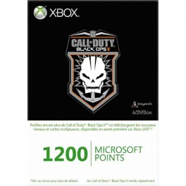 Xbox Live Points 1200 puntos Black Ops 2 - X360