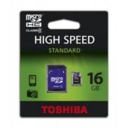 Tarjeta de Memoria Micro SDHC Toshiba 16GB Clase 4