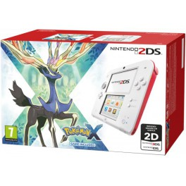 Consola 2DS Blanco y Rojo + Pokemon X