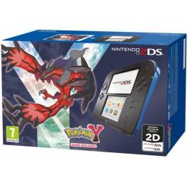 Consola 2DS Negro y Azul + Pokemon Y